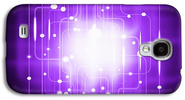 Orb* Galaxy S4 Cases - Abstract Circuit Board Lighting Effect  Galaxy S4 Case by Setsiri Silapasuwanchai