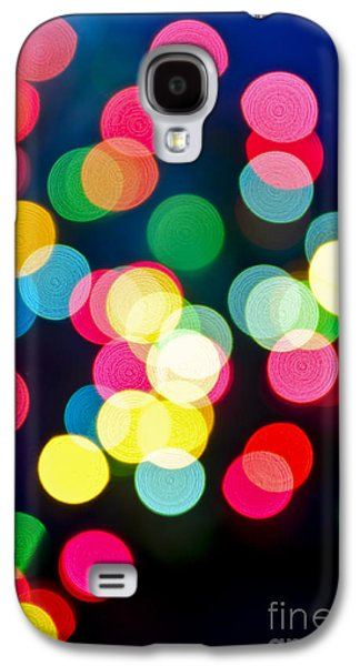 Blurred Galaxy S4 Cases - Blurred Christmas lights Galaxy S4 Case by Elena Elisseeva