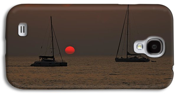 Sun Galaxy S4 Cases - Boats In The Sunset Galaxy S4 Case by Joana Kruse