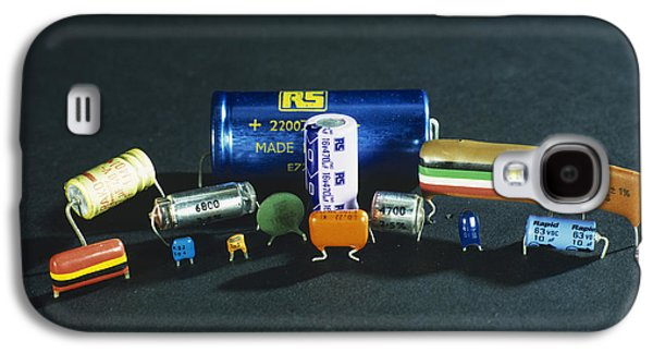 Electrical Component Photographs Galaxy S4 Cases - Capacitors Galaxy S4 Case by Andrew Lambert Photography
