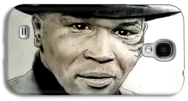 Boxer Pastels Galaxy S4 Cases - Champion Boxer and Actor Mike Tyson Galaxy S4 Case by Jim Fitzpatrick