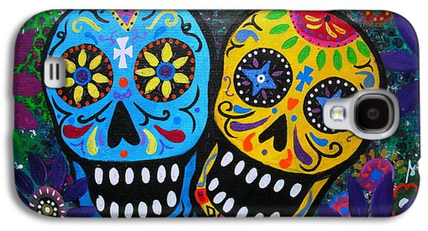 Carter House Galaxy S4 Cases - Couple Day Of The Dead Galaxy S4 Case by Pristine Cartera Turkus