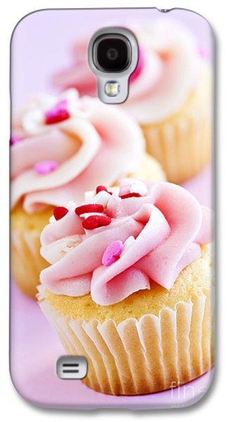 Rows Galaxy S4 Cases - Cupcakes Galaxy S4 Case by Elena Elisseeva