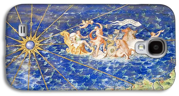 Recently Sold -  - Ancient Galaxy S4 Cases - Detail Of 16th Century Map Of Liguria Galaxy S4 Case by Sheila Terry