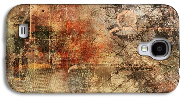 Disorder Paintings Galaxy S4 Cases - Entropy Galaxy S4 Case by Christopher Gaston