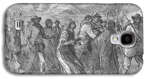 Slavery Galaxy S4 Cases - Escaping To Underground Railroad Galaxy S4 Case by Photo Researchers