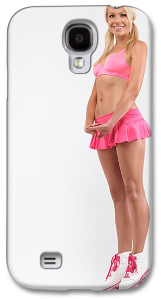 Full Skirt Galaxy S4 Cases - Glamorous Girl on Roller Skates Galaxy S4 Case by Oleksiy Maksymenko