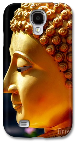Ears Digital Art Galaxy S4 Cases - Golden Buddha Galaxy S4 Case by Adrian Evans