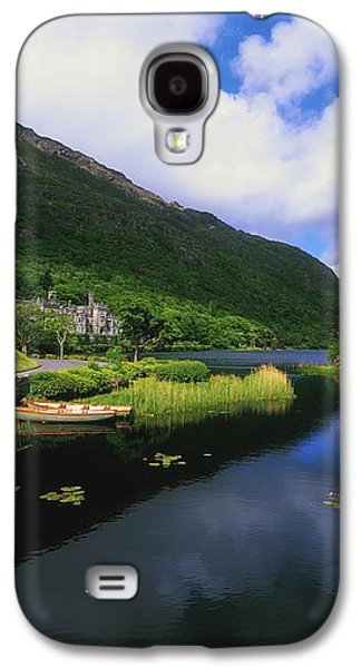 Boats In Reflecting Water Galaxy S4 Cases - Kylemore Abbey, Co Galway, Ireland Galaxy S4 Case by The Irish Image Collection