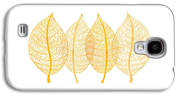 Botanical Paintings Galaxy S4 Cases - Leaves Galaxy S4 Case by Frank Tschakert