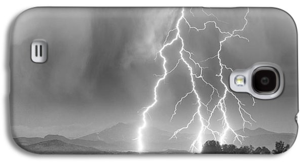 Landscape Acrylic Prints Galaxy S4 Cases - Lightning Striking Longs Peak Foothills 6 Galaxy S4 Case by James BO  Insogna