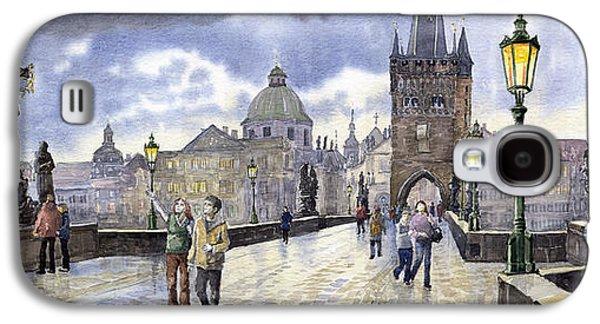 Light Galaxy S4 Cases - Prague Charles Bridge Galaxy S4 Case by Yuriy  Shevchuk