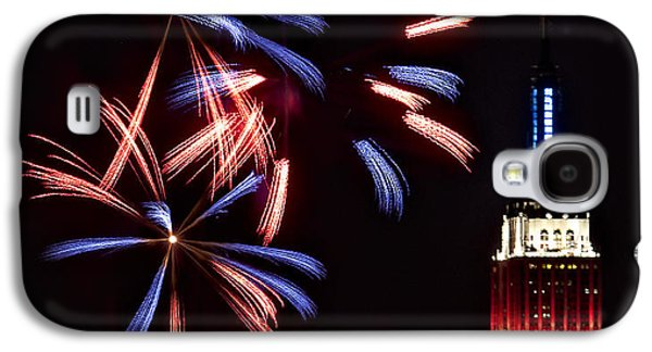 4th July Galaxy S4 Cases - Red White and Blue Galaxy S4 Case by Susan Candelario