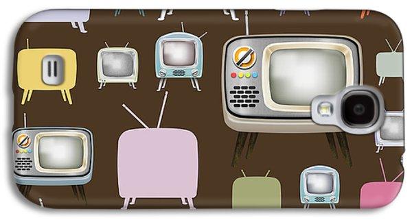 Analog Galaxy S4 Cases - retro TV pattern  Galaxy S4 Case by Setsiri Silapasuwanchai