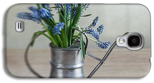 Blue Grapes Galaxy S4 Cases - Still life with grape hyacinths Galaxy S4 Case by Nailia Schwarz