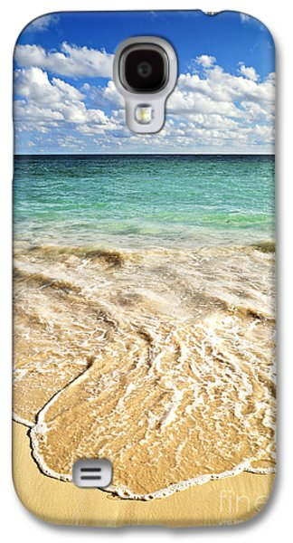 Getaway Galaxy S4 Cases - Tropical beach  Galaxy S4 Case by Elena Elisseeva