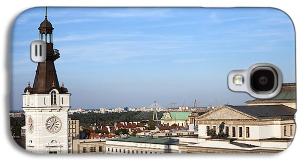 Polish Culture Galaxy S4 Cases - Warsaw Cityscape Galaxy S4 Case by Artur Bogacki