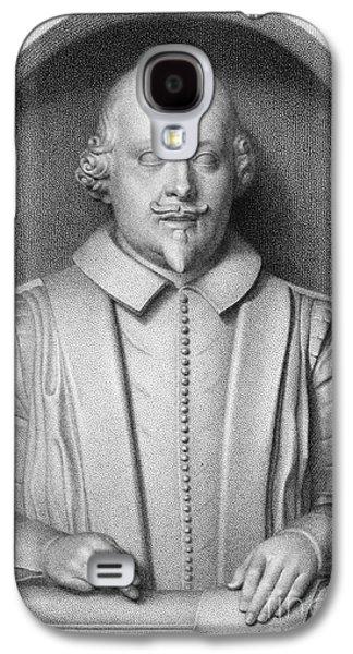 Statue Portrait Galaxy S4 Cases - William Shakespeare Galaxy S4 Case by Granger