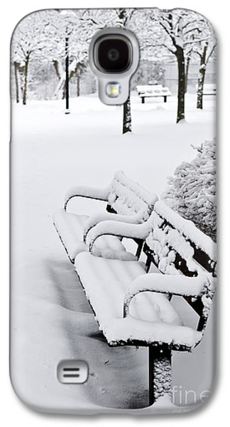 Snow-covered Landscape Galaxy S4 Cases - Winter park Galaxy S4 Case by Elena Elisseeva