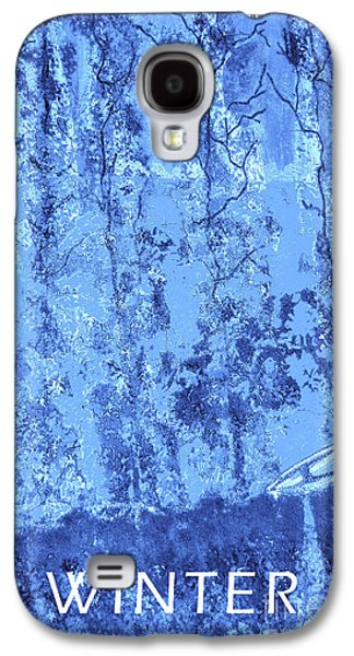 Canoe Mixed Media Galaxy S4 Cases - Winter Galaxy S4 Case by Raquel Bright