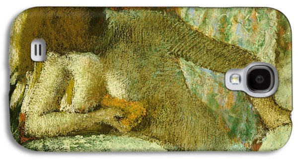 Nudes Pastels Galaxy S4 Cases - Woman at her Toilet Galaxy S4 Case by Edgar Degas
