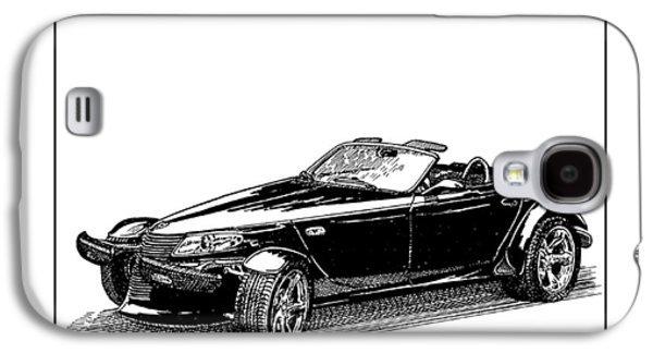 Pen And Ink Framed Prints Galaxy S4 Cases - 2000 Plymouth Prowler Galaxy S4 Case by Jack Pumphrey