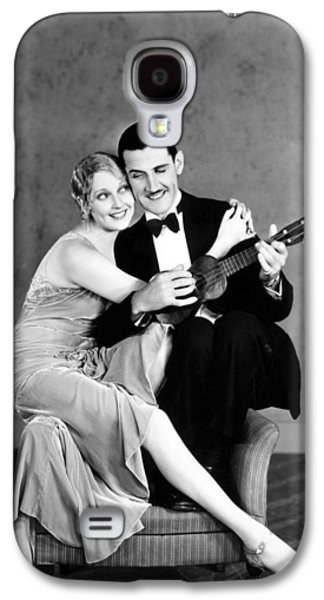 Ukelele Galaxy S4 Cases - Silent Film Still: Couples Galaxy S4 Case by Granger