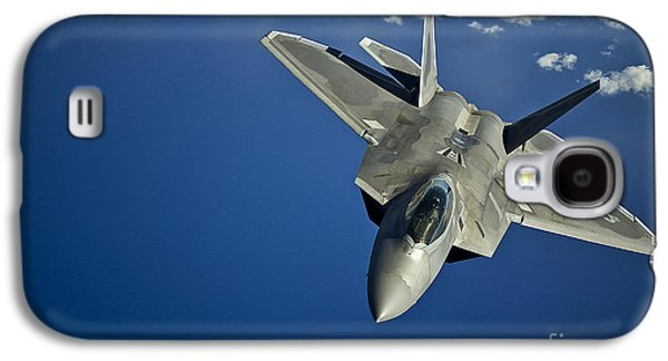 Transportation Photographs Galaxy S4 Cases - An F-22 Raptor In Flight Galaxy S4 Case by Stocktrek Images