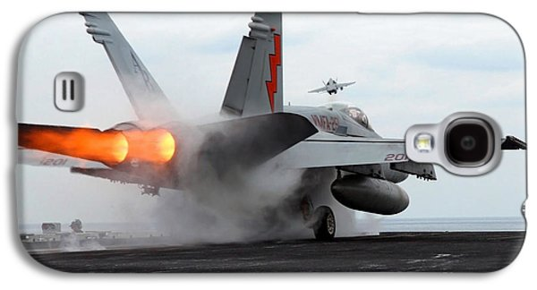 Enterprise Galaxy S4 Cases - An Fa-18c Hornet Launches Galaxy S4 Case by Stocktrek Images