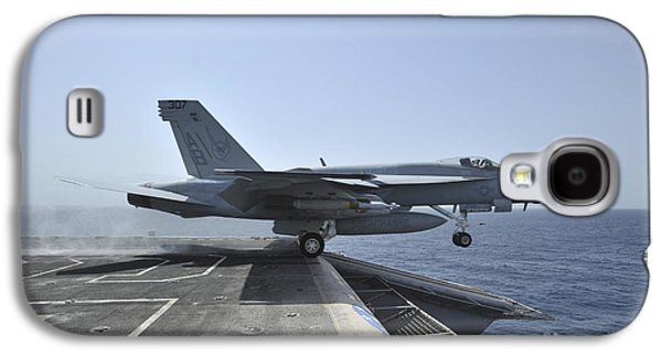 Enterprise Galaxy S4 Cases - An Fa-18e Super Hornet Launches Galaxy S4 Case by Stocktrek Images