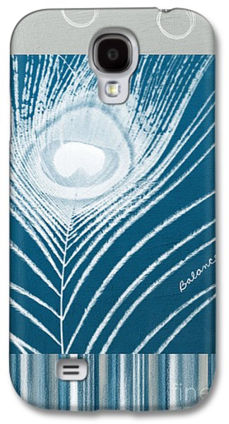 Stripes Mixed Media Galaxy S4 Cases - Balance Galaxy S4 Case by Linda Woods