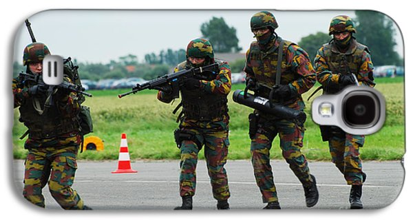 Rpg Galaxy S4 Cases - Belgian Paracommandos Entering Galaxy S4 Case by Luc De Jaeger