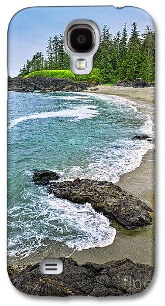 Vancouver Photographs Galaxy S4 Cases - Coast of Pacific ocean in Canada Galaxy S4 Case by Elena Elisseeva