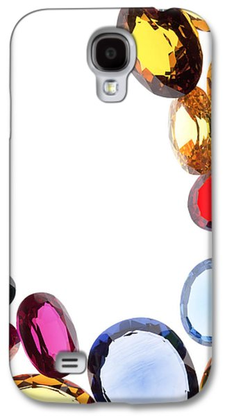 Stones Jewelry Galaxy S4 Cases - Colorful Gems Galaxy S4 Case by Setsiri Silapasuwanchai