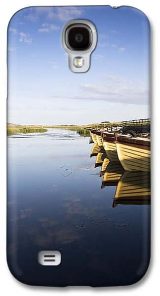 Boats In Reflecting Water Galaxy S4 Cases - Dunfanaghy, County Donegal, Ireland Galaxy S4 Case by Peter McCabe