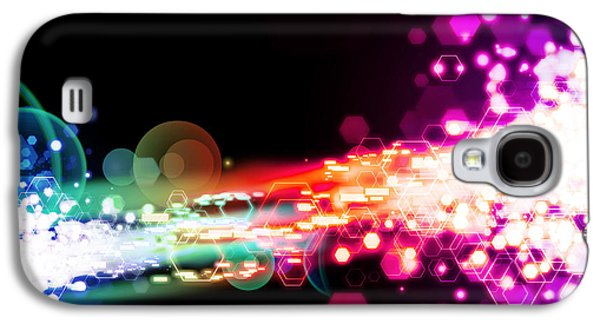 Exploding Galaxy S4 Cases - Explosion Of Lights Galaxy S4 Case by Setsiri Silapasuwanchai