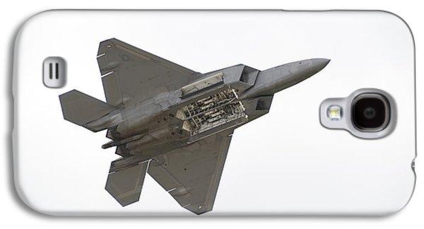 Warbird Galaxy S4 Cases - F-22 Raptor Galaxy S4 Case by Sebastian Musial