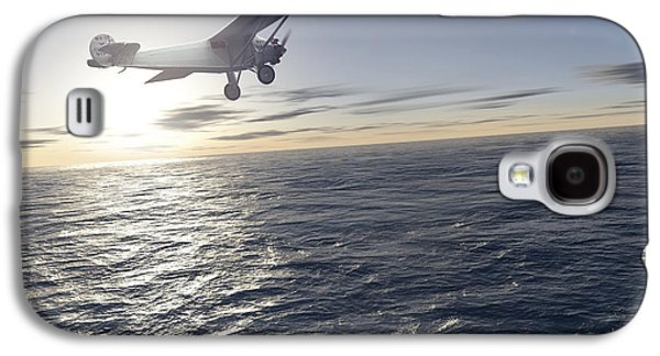 Technological Photographs Galaxy S4 Cases - First Solo Transatlantic Flight, 1927 Galaxy S4 Case by Detlev Van Ravenswaay
