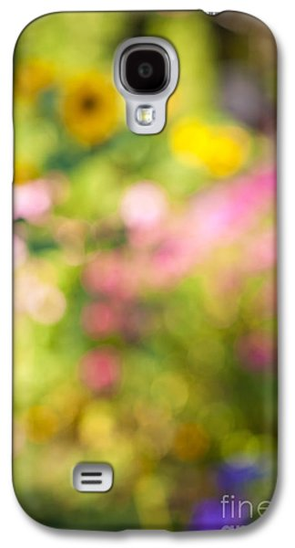 Impressionism Photographs Galaxy S4 Cases - Flower garden in sunshine Galaxy S4 Case by Elena Elisseeva