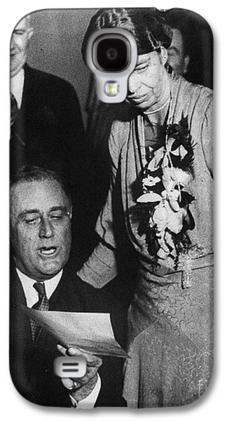 America First Party Galaxy S4 Cases - Franklin D. Roosevelt Galaxy S4 Case by Granger