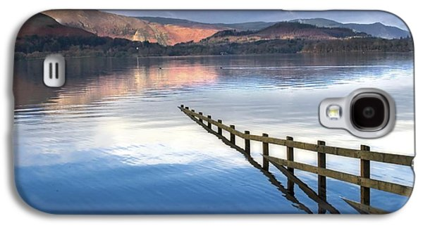 Trees Reflecting In Water Galaxy S4 Cases - Lake Derwent, Cumbria, England Galaxy S4 Case by John Short