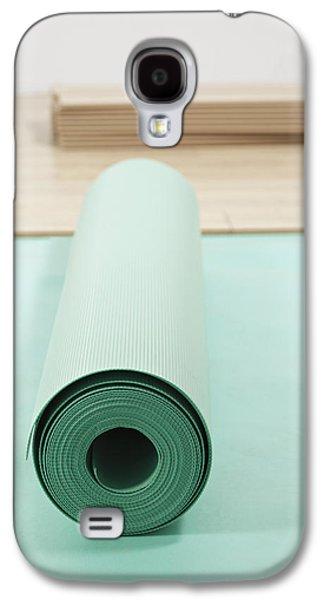 Lino Galaxy S4 Cases - Laying A Floor. Rolls Of Underlay Or Galaxy S4 Case by Magomed Magomedagaev