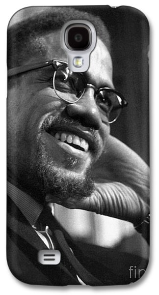 Recently Sold -  - African-american Galaxy S4 Cases - Malcolm X (1925-1965) Galaxy S4 Case by Granger