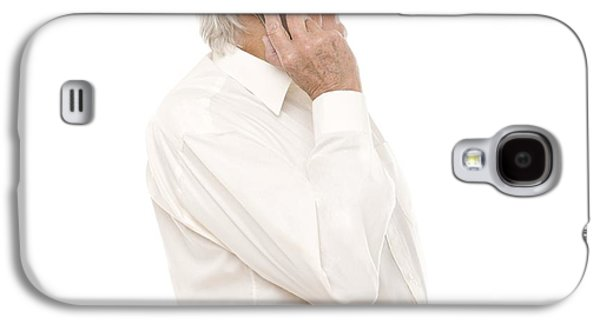 Button Down Shirt Photographs Galaxy S4 Cases - Mobile Phone Use Galaxy S4 Case by