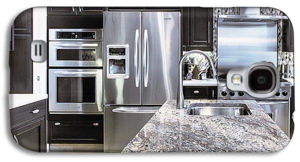 Appliance Galaxy S4 Cases - Modern Kitchen Interior Galaxy S4 Case by Skip Nall