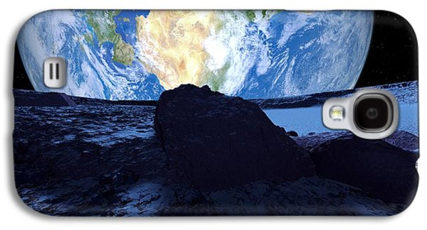 Planetoid Galaxy S4 Cases - Near-earth Asteroid, Artwork Galaxy S4 Case by Detlev Van Ravenswaay