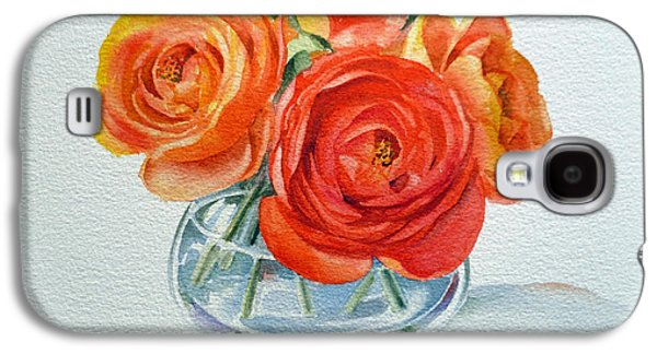 Cut Flowers Galaxy S4 Cases - Ranunculus Galaxy S4 Case by Irina Sztukowski