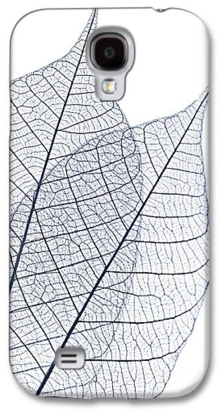 Skeleton Galaxy S4 Cases - Skeleton leaves Galaxy S4 Case by Elena Elisseeva