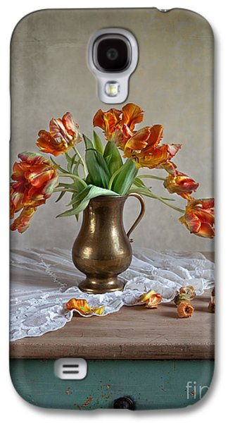 Cut Flowers Galaxy S4 Cases - Still Life with Tulips Galaxy S4 Case by Nailia Schwarz