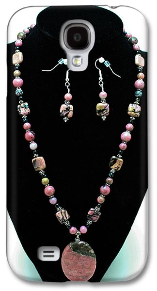 Handmade Jewelry Jewelry Galaxy S4 Cases - 3571 Rhodonite Set Galaxy S4 Case by Teresa Mucha